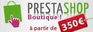 Prestashop - boutique de vente en ligne